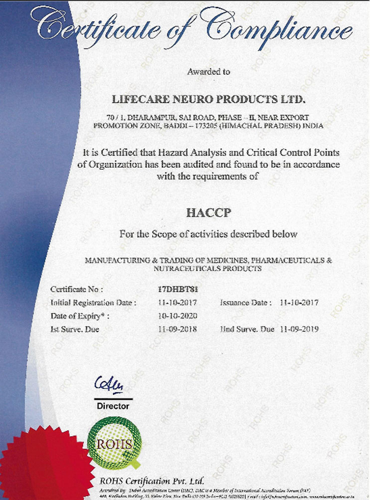 Lifecare Neuro Products Ltd  | Neuro Products manufacturer